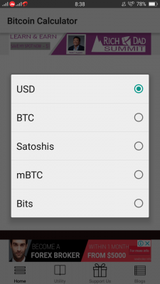 Bitcoin Calculator screenshot 1