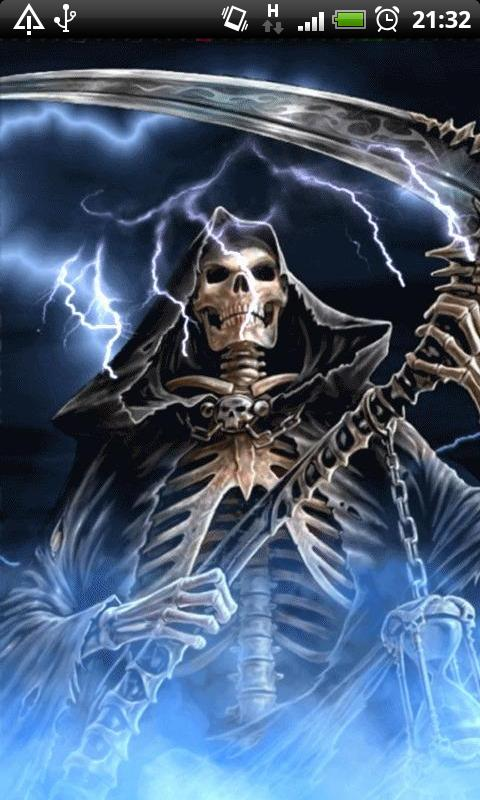 Download blue fire grim reaper live wallpaper free for your android