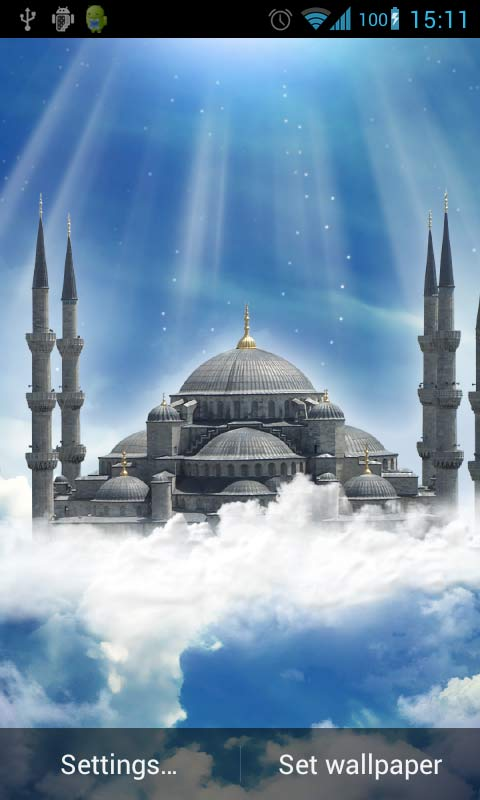 Download Blue Mosque Live Wallpaper free for your Android phone