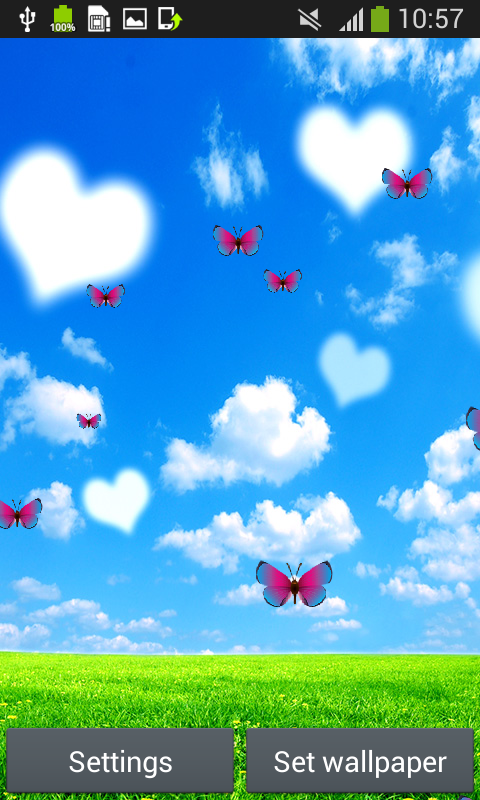 blue sky live wallpapers free apk android app android