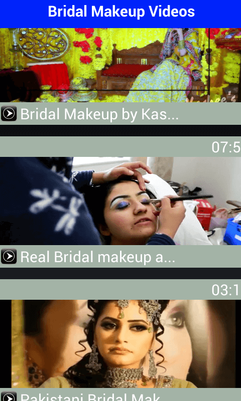 Wedding Makeover Online : Bridal Makeup Videos 2016 Free Android Apps - Android Freeware