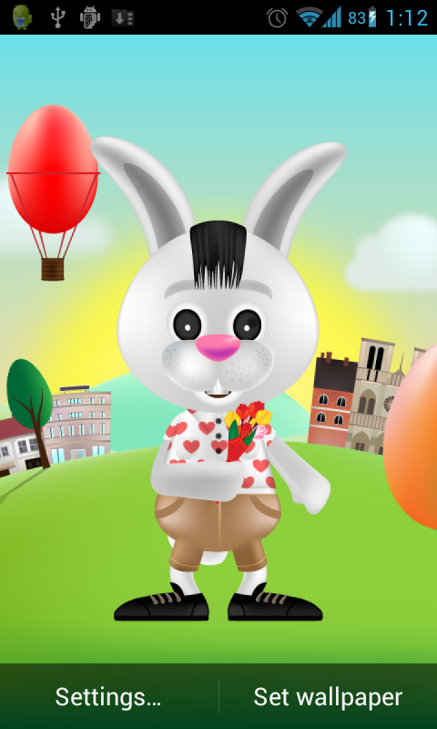 Bunny rabbit live wallpaper free android app android freeware download bunny rabbit live wallpaper free for your android phone voltagebd Gallery