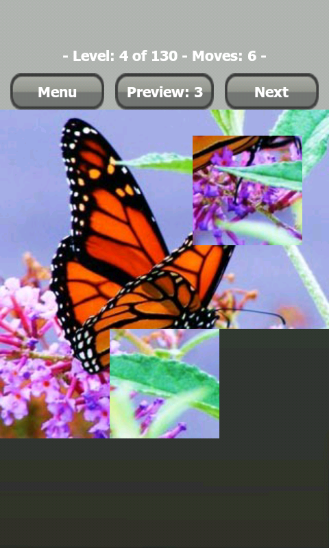 Butterfly jigsaw puzzle game screenshot 1