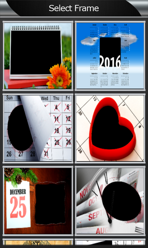 Calendar Photo Frames free APK android app - Android Freeware