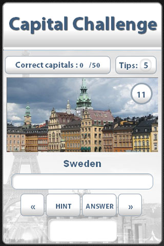Capital Challenge Quiz screenshot 2
