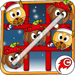 Image of Cat Dog Toe Christmas - Tic Tac Toe Xmas Game