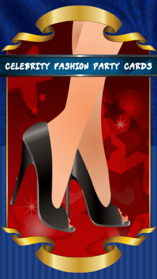 Celebrity Fashion Party Cards screenshot 1