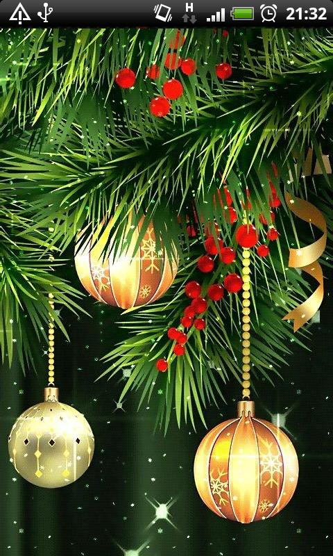 Christmas Balls Live Wallpaper free app download - Android Freeware