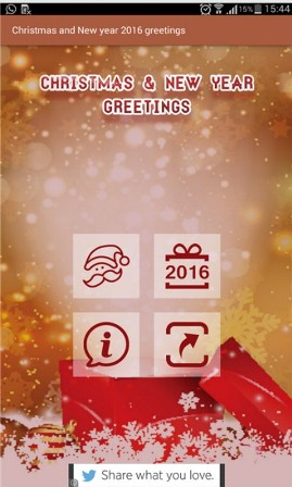Christmas Greetings and New Year Wishes Android App - Free APK by ...