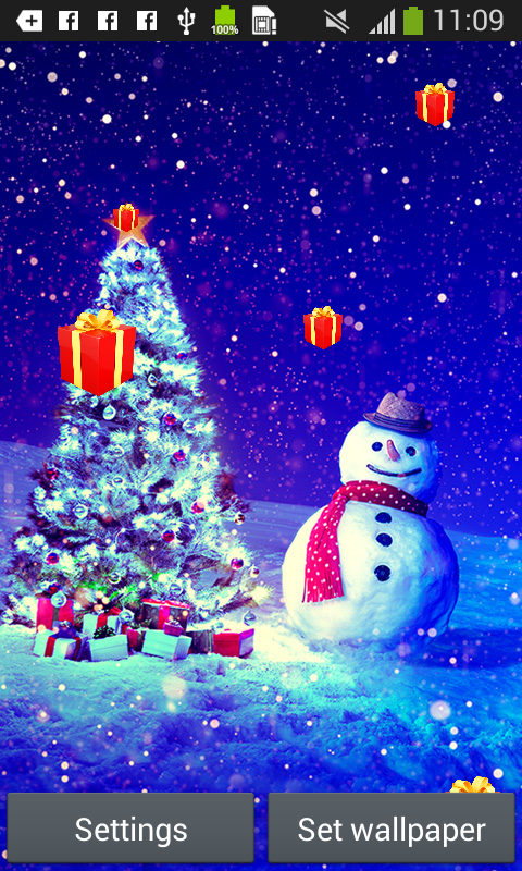 christmas live wallpapers free app download android freeware