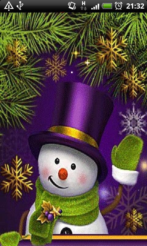 Download Christmas Snowman Live Wallpaper APK Free