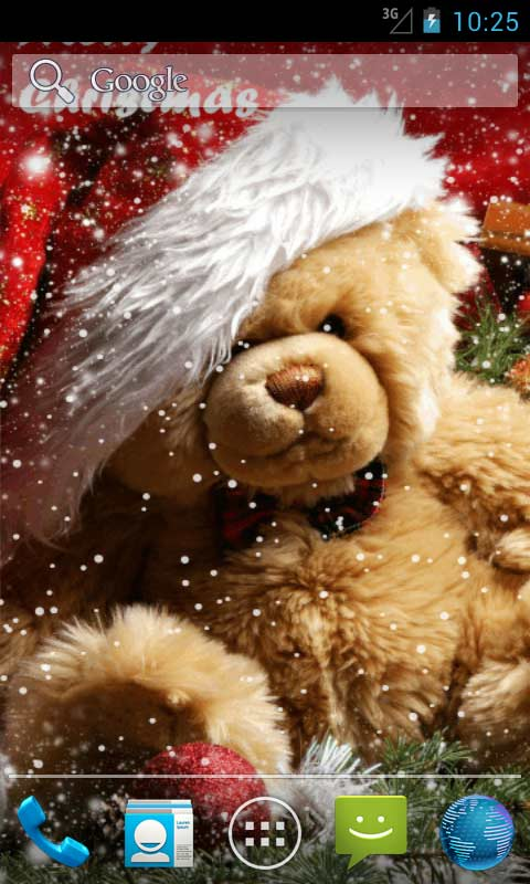 Download Christmas Teddy Bear Live Wallpapers