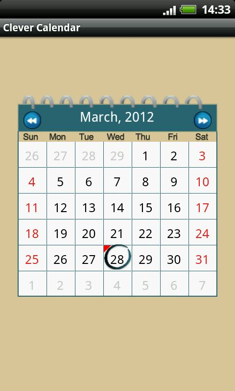 Calendar Layout Android : Calendar android gratis new template site
