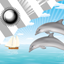Download Clock Weather Widget Dolphins for Android phone