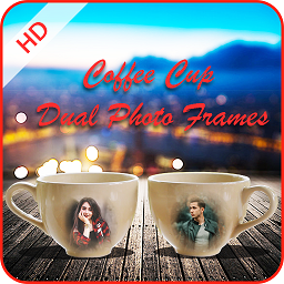 Image of Coffee Cup Dual Photo Frames 2019