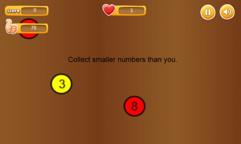 Collect Smaller Numbers - than player number screenshot 1