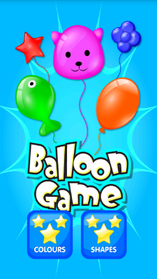 Color and Shape Balloon Game screenshot 1