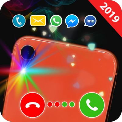 Color flashlight alert on call and sms