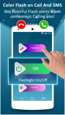 Color flashlight alert on call and sms screenshot 2