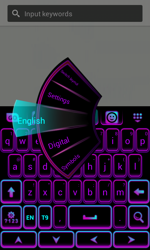 Color Keyboard Neon Purple screenshot 1