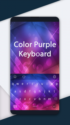 Color Purple Keyboard screenshot 1