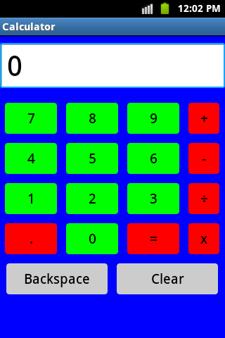Colourful Calculator screenshot 1