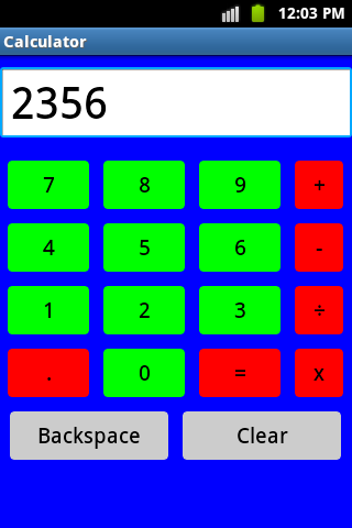 Colourful Calculator screenshot 2