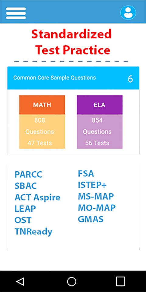 Common Core Math English Tests screenshot 1