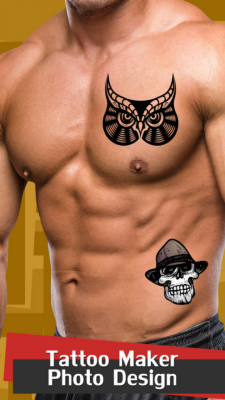 cool tattoo maker photo design free android app android freeware. Black Bedroom Furniture Sets. Home Design Ideas