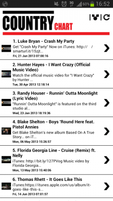 Country Music Chart And You Screenshot 1