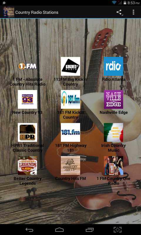 Country Radio Stations screenshot 1