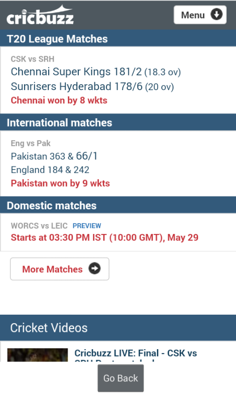 Cricbuzz Lite screenshot 2