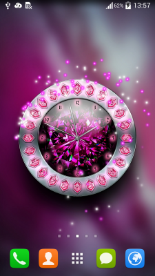 crystal clock live wallpaper free apk android app