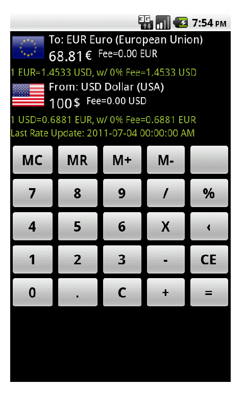 Currency Plus Calculator screenshot 1