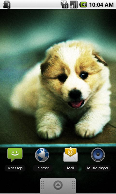 download free cute doggie live wallpaper apps for android