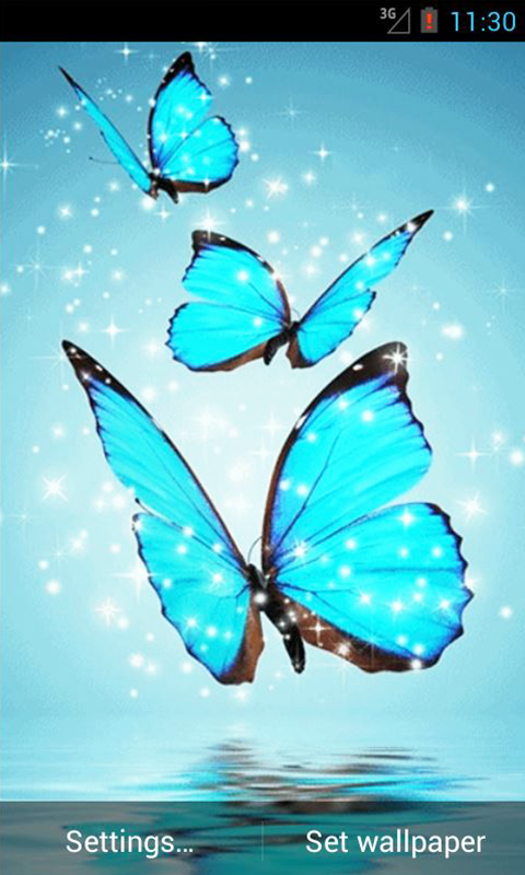 cyan butterfly live wallpaper free app download android