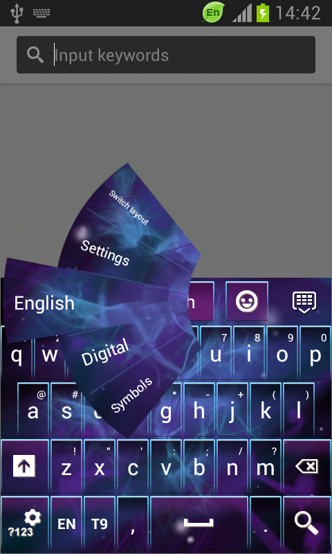 Dark Space Abstract Keyboard screenshot 1