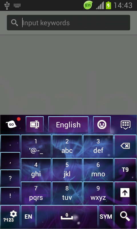 Dark Space Abstract Keyboard screenshot 2