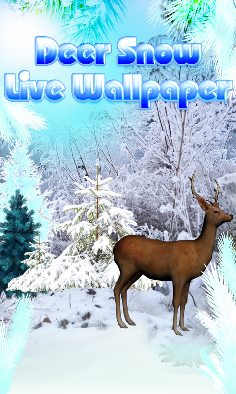 Deer Snow Live Wallpaper screenshot 1