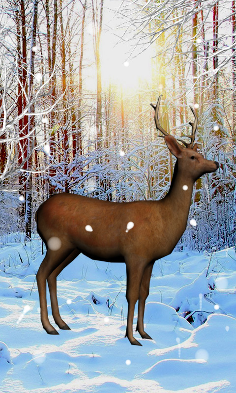 Deer Snow Live Wallpaper screenshot 2