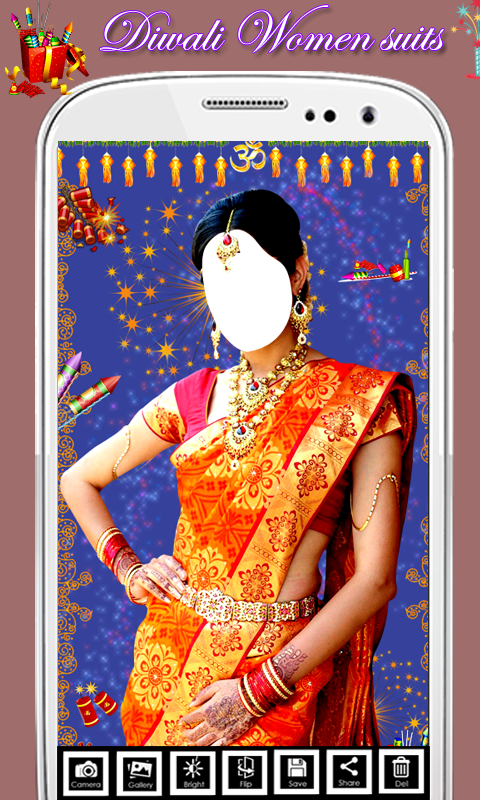 Diwali Traditional Saree Suit screenshot 1