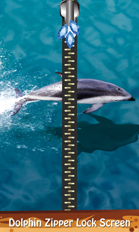 Dolphin Zipper Lock Screen Android App Free Apk By Eonetek