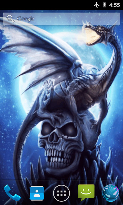 Download Dragon On Skull Live Wallpaper