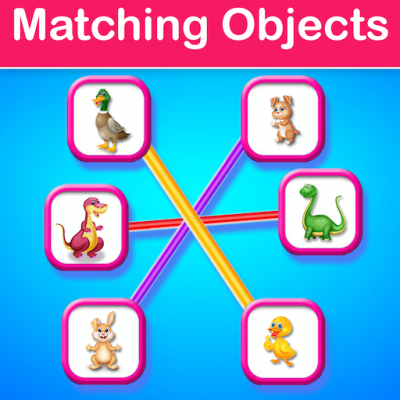 Educational Matching the Objects Memory Game