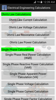 Electrical Calculations screenshot 2