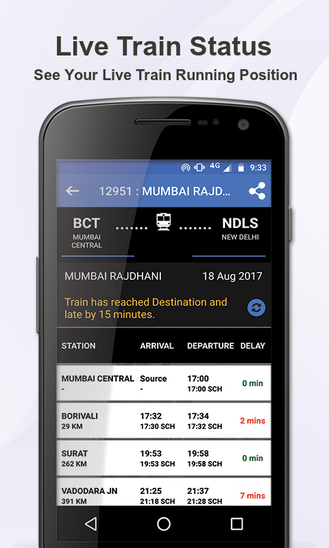 eRAILYATRA - PNR Status, Train Running Status Info screenshot 2