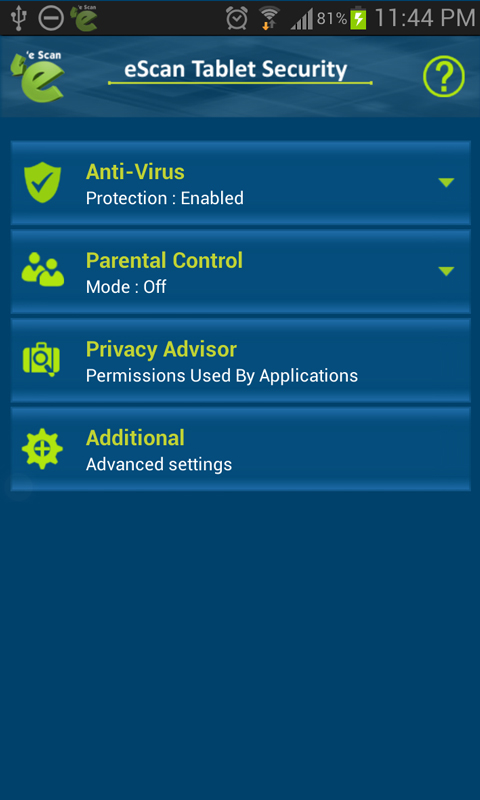 Escan tablet security for android free apk android app for App tablet android gratis