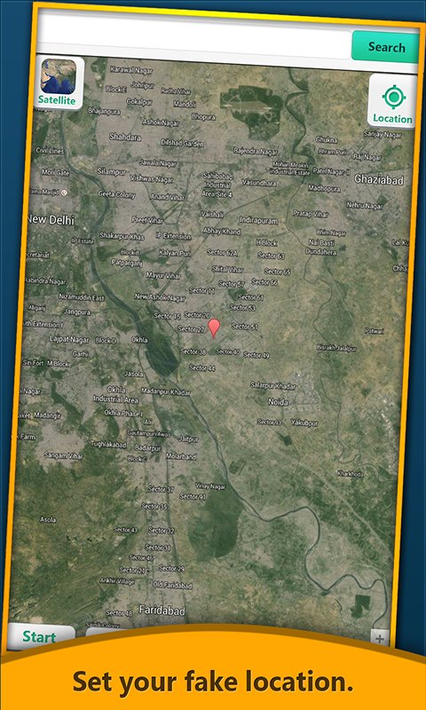 Fake My Location GPS Trick Free Android App Android Freeware - Satellite map of my location