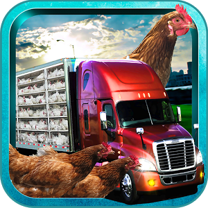 Image of Farm Chicken Truck Driver 3D