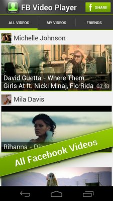 FB Video Player screenshot 1